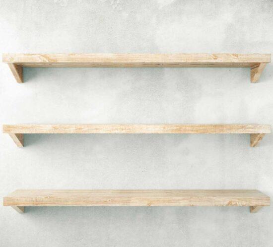 estantes madera haya natural majofesa